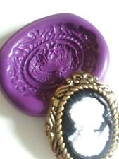 Vintage LADY CAMEO Brooch  Silicone Mould Sugarcraft Fimo Cake Decorate Icing