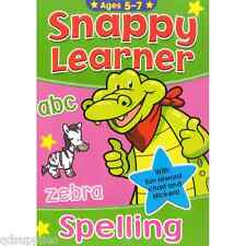 SNAPPY LEARNER WORDS & SPELLING EDUCATIONAL SCHOOL BOOK & REWARD CHART AGE 5-7