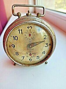 Antique alarm clock Yunghans Boxex. Original. Needs repair