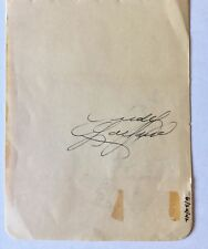 Judy Garland Autograph Signed Peter Lind Hayes on verso  - *Hollywood Posters*