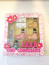 Markwins Nail Collection 4 Nail Polishes 1.89oz Orange, Blue, Pink, NEW IN BOX
