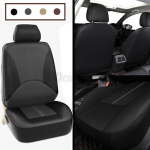 1X Universal Car Seat Cover Front Seat Faux PU Leather Covers Cushion  t