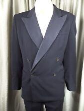 "Vintage 1960's Black Tie Dinner Suit C40"" W32"" L32"""