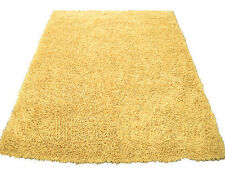 "3x5  Area  Rug  Shaggy Fluffy SHAG  Light Yellow  1"" inch Thick  3'3""x4'10""  NEW"