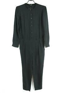 MASSIMO DUTTI BNWT 99 Black Long Sleeve Women Jumpsuit Size 36 EU S