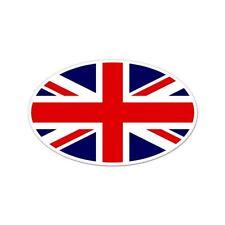 """United Kingdom Union Jack Flag oval car window bumper sticker decal 5"""" x 3"""""""