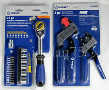 KOBALT DOUBLE DRIVE 20 Piece Extendable Ratchet Set + 2 Piece MAGNUM Pliers Set
