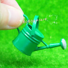 Dollhouse Miniature 1:12 Toy Garden Metal Green Watering Can Length 4cm Jm43G