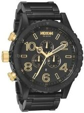 New in Box Nixon 51-30 Chrono Watch Men's Matte Black / Gold A083-1041 A0831041