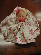 """Vintage Happy Birthday Plastic Doll - 6"""" tall Good condition But sold As/Is"""