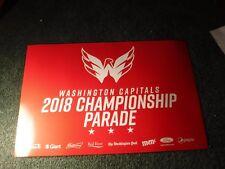 2018 Washington Capitals Stanley Cup Champions Playoffs Parade Poster SGA Sign