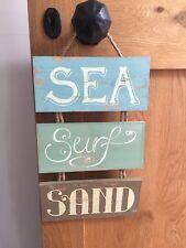 sea surf sand wooden sign