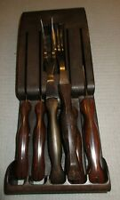 7 Piece Cutco Knife Set/Plastic Knife Rack-Pre-Owned Very Good Condition