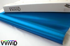 VViViD Brushed Blue Aluminum Vinyl car Wrap 1ft x 5ft film 3mil repositionable