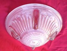 French Art Deco Ezan Frosted Pressed Glass Light Chandelier Shade B