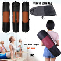 Outdoor Exercise Workout Gym Fitness Yoga Pilates Mat Mesh Carrier Net Bag Top