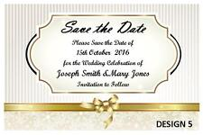 1 x SAVE THE DATE WEDDING BRIDE GROOM PERSONALISED CARDS INVITATIONS + MAGNETS