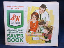 Stamps S&H Green Stamps FULL 1200 Stamp Book 1960s Plain Back