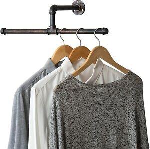 20-In Industrial Rustic Copper Metal Wall Mounted T-Bar Clothing Hanger Rack