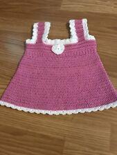 Baby Kleid Gehäkelt neu Größe ca 0-3 Monate