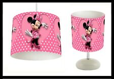 MINNIE MOUSE - Bedroom Lighting - Lightshade Lampshade & Side Lamp