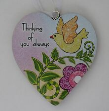 zzbd Thinking of you always simple Love Heart Ornament ganz