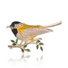 Fashion Lovely Animal Bird Crystal Brooch Pin Women Costum Spring Jewelry Gift