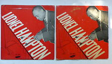 """25 cms 10"""" Lot de deux  LIONEL HAMPTON Jazz time Paris 4 Pochettes differentes"""