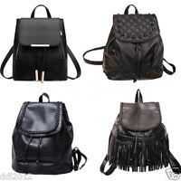 Girl Leather Shoulder School Bag Backpack Travel Satchel Rucksack Womens Handbag