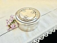 Ring Jewelry Box Silver Box French Roses Vermeil Trinket Weed Vanity Desk