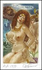 David Bekker 1989 Exlibris C4 Salome Erotic Erotik Nude Nudo Woman 440