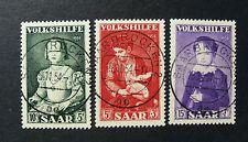 "GERMANIA,Germany SARRE SAAR 1954 "" Beneficenza .Quadri Celebri "" 3V.Cpl set USED"