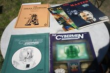 Rare Doctor Who lot of 6, FASA The Cybermen & Cyber Files, Ray Winninger HTF