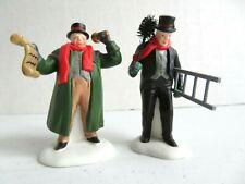 "Dept 56 Heritage Village ""Town Crier & Chimney Sweep"" Figurines Set of 2 5569-7"
