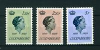 Luxembourg 1959 Grand Duchess Charlotte full set of stamps. Mint. Sg 651-653.