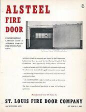 MRO Brochure - St Louis Fire Door Alsteel-Dor Door Steel Military c1952 (MR102)