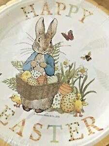 NEW 48 Beatrix Potter Peter Rabbit Paper Plates Happy Easter Shrinkwrapped