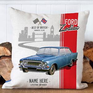 Personalised FORD ZODIAC Cushion Cover MK3 British Classic Car Pillow Gift CC18
