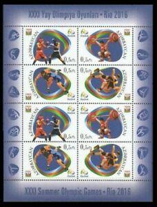 Azerbaijan 2016 * XXXI Summer Olympic Games in Rio de Janeiro * Sheet * MNH