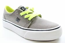 New DC SHOES Boys Trase TX Low Top Skate Sneaker Shoes Taupe/Neon Size 1 BW1