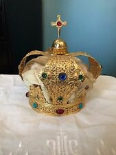 RARE HUGE XLARGE VINTAGE CROWN FOR CATHOLIC CHURCH ALTAR INFANT OF PRAGUE STATUE