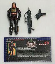 2003 Toys R Us Exclusive G.I.Joe Cobra Python Patrol Major Bludd Loose Complete