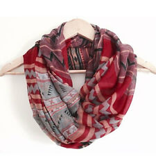 New Blue Red Fashion Aztec Long Tribal Printed Women Scarfs Ladies Scarves