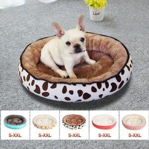 Pet Cat Dog Sleeping Bed Fleece Warm Soft Round Nest Basket Mat Cushion Kennel