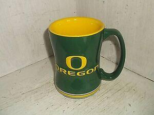 Boelter Brands Collegiate OREGON DUCKS Coffee Mug Cup 14 oz Green and Yellow