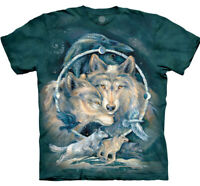 Wolf In Spirit I Am Free Wolves Bird Native American Blue Mountain T-Shirt S-5X