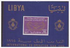 LIBIA INDIPENDENTE 1965 -  COOPERAZIONE  INT.  FOGLIETTO  ** 9