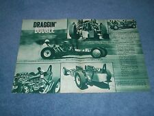 "1957 Twin Flathead Engine Dragster Vintage Article ""Draggin' Double"""