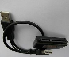 "USB2.0 auf SATA 7+15 Pin Adapter Kabel für 2.5"" Zoll HDD - SSD Festplatten Neu"