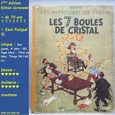 Tintin, 12, Le 7 boules de cristal, Hergé, Casterman, EO, B2, 1948, EF, C